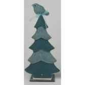 arbre avec oiseau 23x23cm bleu peha tr 34380