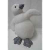 pingouin 37cm blanc peha tr 36210