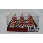 6 bougies chauffe plats fille rouge peha c10120