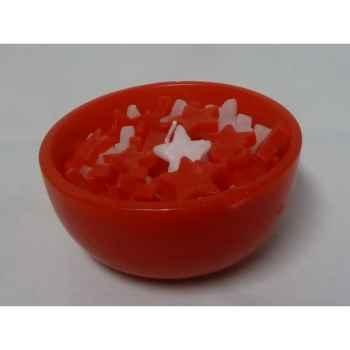 25 bougies 11,5cm rouge/blanc, bol rouge Peha -CL-10165
