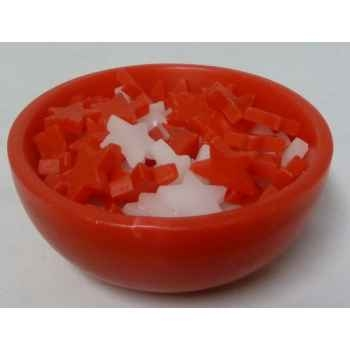 30 bougies 11,5cm rouge/blanc, bol rouge Peha -CL-10175