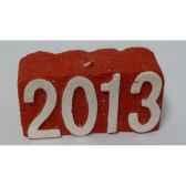 bougie carree 2013 12x55cm peha c10380