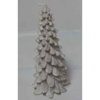 Bougie sapin 15cm blanc Peha -CL-10435