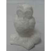 bougie hibou 10cm blanc peha c10465