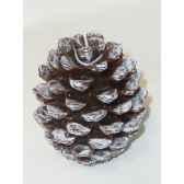 bougie pomme de pin 95cm blanc marron peha c10475