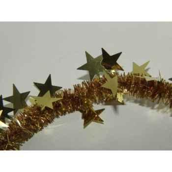 Guirlande 55mmx200cm étoiles or/cuivre Peha -GL-30190