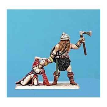 Figurine - Viking et prisonnière - CA-017