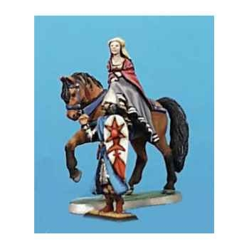 Figurine - Demoiselle à cheval et écuyer - CA-019
