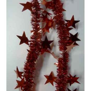Guirlande 5,5cmx6m etoille rouge Peha -GL-50535