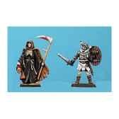 figurine la mort et squelette de guerrier ca020