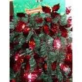 guirlande 80mmx545m verte feuilles roug peha g90115