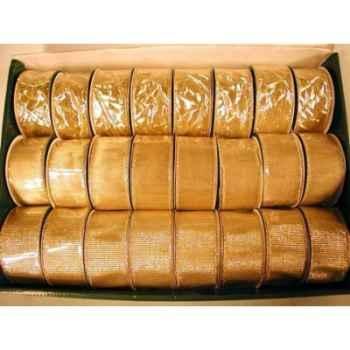 Ruban 3,8cmx3m or 3 assortis Peha -LB050403