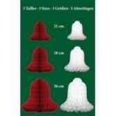 boite cloches 21 28 36cm rouge et blanch peha ph212836