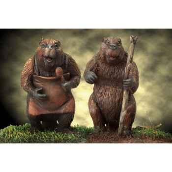 Figurine - Mr. and Mrs. Beaver - NARNIA-06