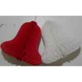 2 cloches papiers 21cm rouge blanc peha ph 21 2rw