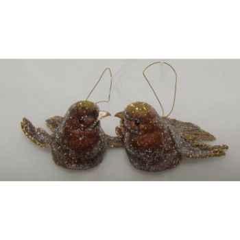 Fig à susp oiseau 9,5cm set/2 marron f Peha -TR-13794