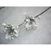 pique 90cm fleurs gris peha tr 22675