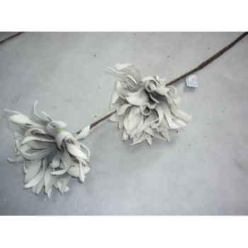 Pique 90cm fleurs gris Peha -TR-22675