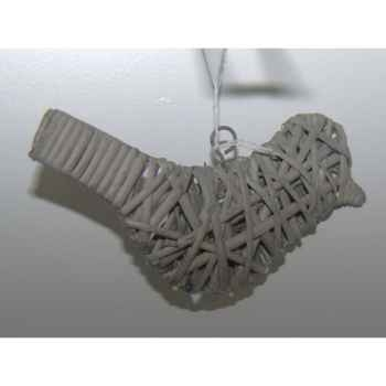 Fig a susp oiseau 16cm gris brindille Peha -TR-25265