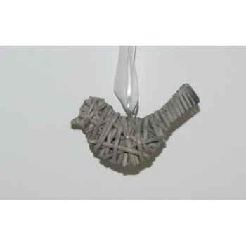 Fig à susp oiseau 10cm brindilles gris Peha -TR-25270