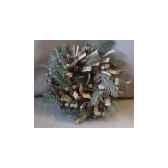couronne 29cm pomme de pin av neige peha tr 25470