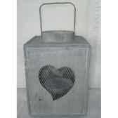 lanterne ac coeur 20x295cm gris peha tr 26620
