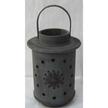 Lanterne bois 22,5cm gris Peha -TR-29445