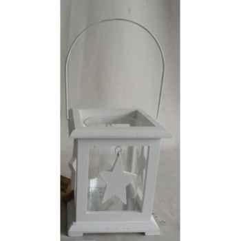 Porte bougie 15x15x18cm blanc Peha -TR-30090