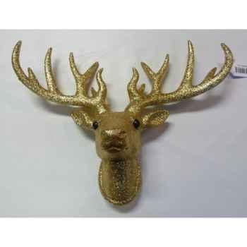 Fig à susp tête de renne 33cm or Peha -TR-34275