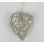 coeur en dentelle a susp 12cm blanc gris peha tr 34351
