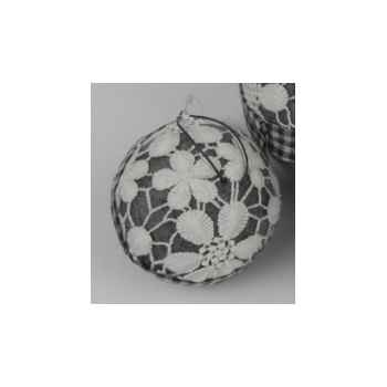 Balle en dentelle à susp 9cm blanc/gris Peha -TR-34352