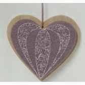 fig a susp coeur violet 95cm peha tr 35815