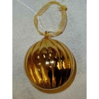 Boule 7cm citrouille or Peha -UF630706