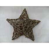 decoration 25cm etoile en branches peha tr 14565