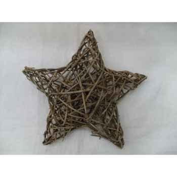 Décoration 25cm étoile en branches Peha -TR-14565
