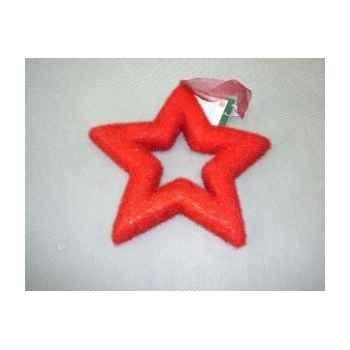 Fig à susp étoile 16cm rouge Peha -TR-24945