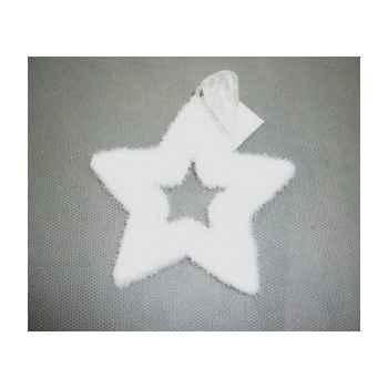 Fig à susp étoile 11cm blanc Peha -TR-24955