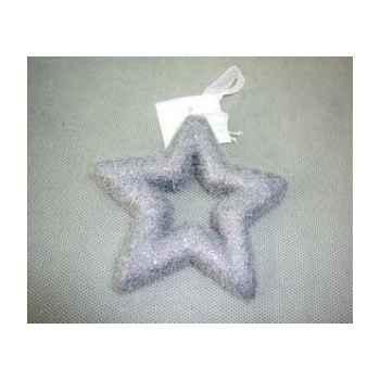 Fig à susp étoile 11cm gris Peha -TR-24965