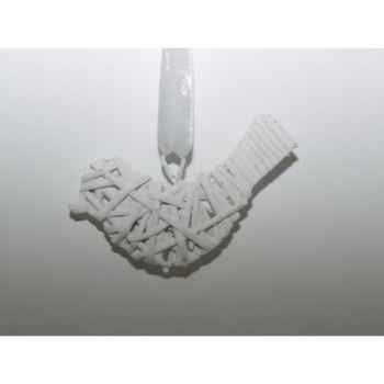 Fig a susp oiseau 10cm blanc brindille Peha -TR-25260