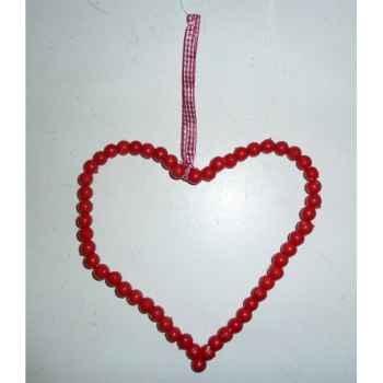 Fig a susp coeur 11cm rouge Peha -TR-26990
