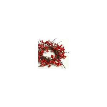 Couronne 45cm ac fruit rouge Peha -TR-27035
