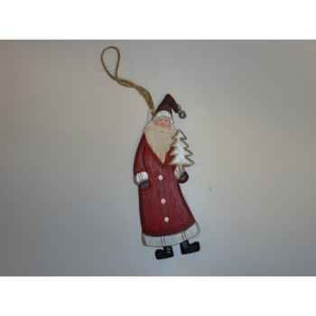 Pere noel ac sapin 15cm rouge Peha -TR-27195