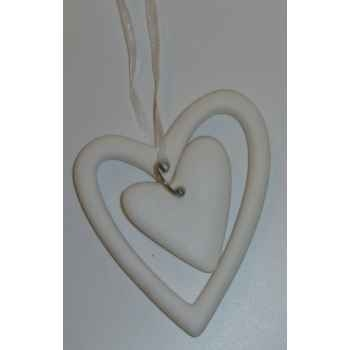 Fig a sup coeur 8cm blanc/argent Peha -TR-27435