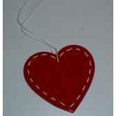 fig a susp coeur 85cm blanc rouge peha tr 27695