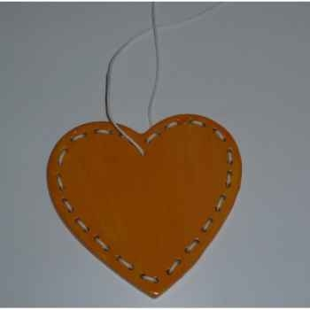 Fig a susp coeur 8,5cm orange/blanc Peha -TR-27710