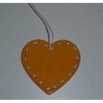 Fig a susp coeur 7cm orange/blanc Peha -TR-27750