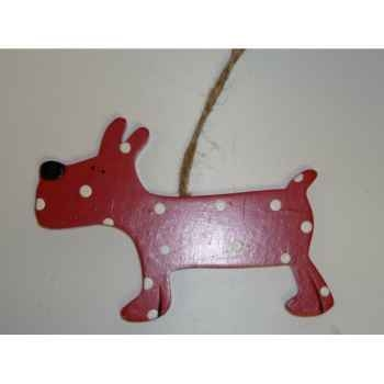 Fig a susp chien 10cm rouge/blanc Peha -TR-27950