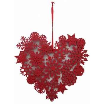 Fig a susp coeur 18cm rouge Peha -TR-29275