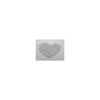 Fig a susp coeur 18cm blanc Peha -TR-29285