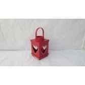 lanterne bois 19cm rouge peha tr 29500